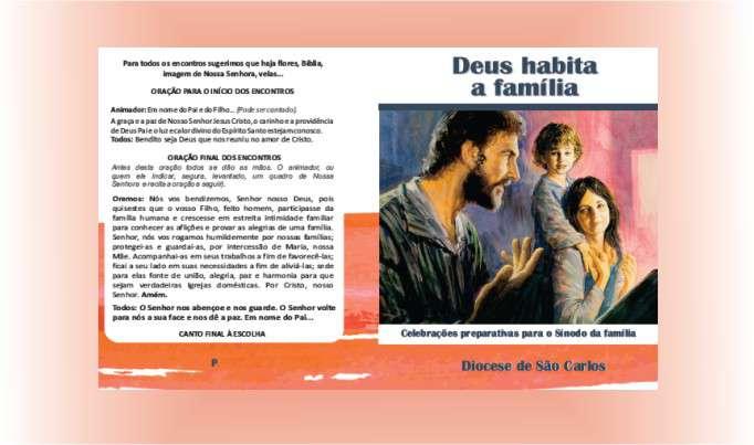 """Subsídio """"Deus habita a Família"""" é enviado as Paróquias da Diocese"""