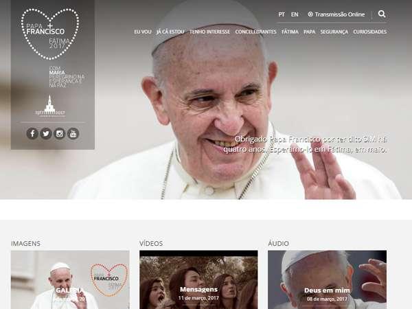 Fátima 2017: Santuário apresenta site oficial da visita do Papa