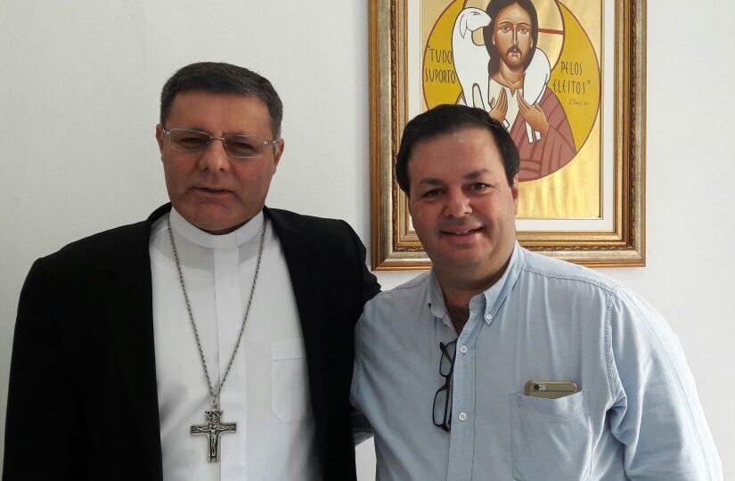 DOM PAULO RECEBE VISITA DO SECRETÁRIO MUNICIPAL DE SAÚDE  DE SÃO CARLOS