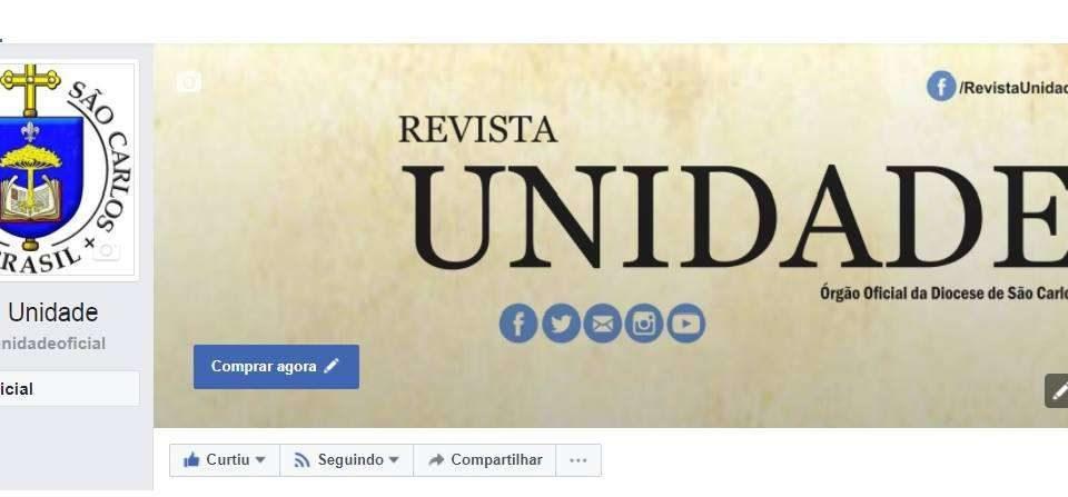 Revista Unidade ganha página no Facebook