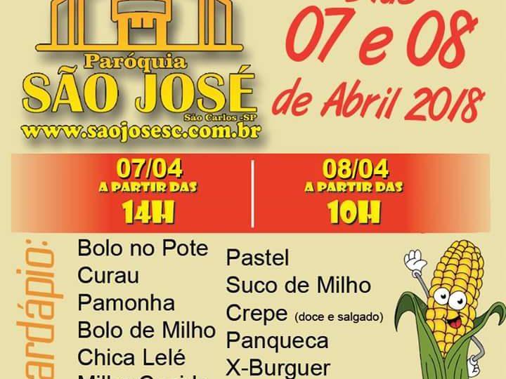 Paróquia São José realiza 3ª Festa do Milho com diversos pratos típicos em São Carlos