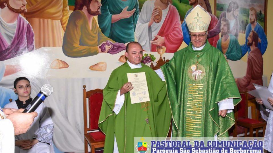 Comunidade celebrou os 97 anos da Paróquia e a posse do novo vigário paroquial