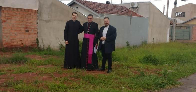 Futura Igreja de São Bento na cidade de Jaú recebe visita de Dom Paulo Cezar