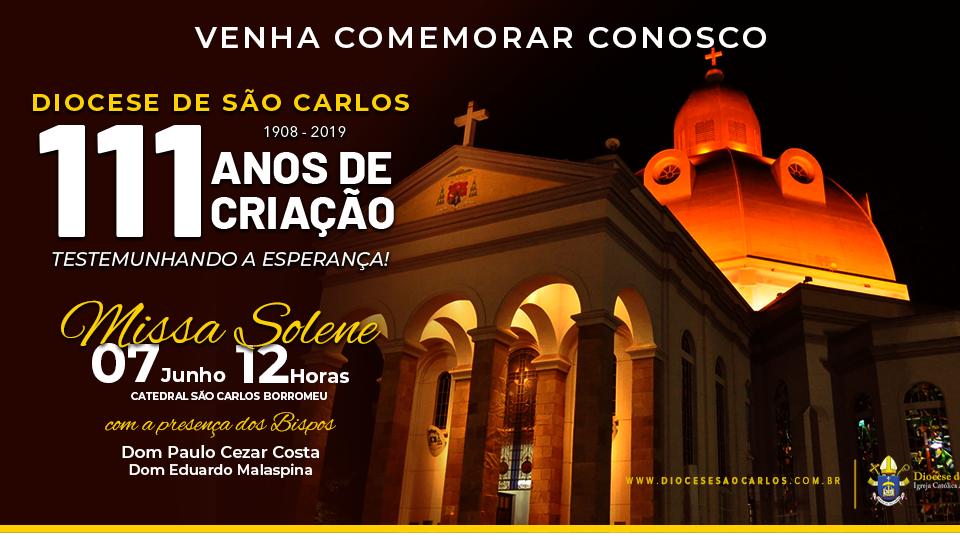 Diocese de São Carlos completa 111 anos de criação