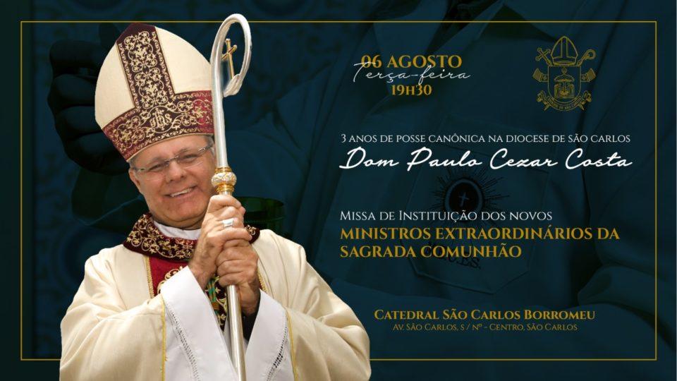 Diocese de São Carlos celebra 3 anos com Dom Paulo Cezar