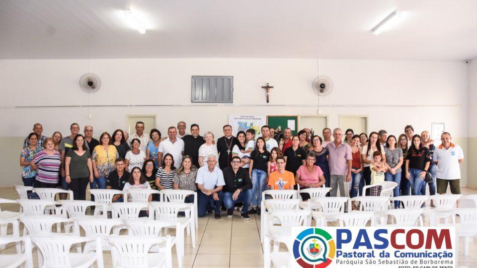 Dom Paulo se encontra com a Sociedade São Vicente de Paulo e membros da Associação São Sebastião em Borborema