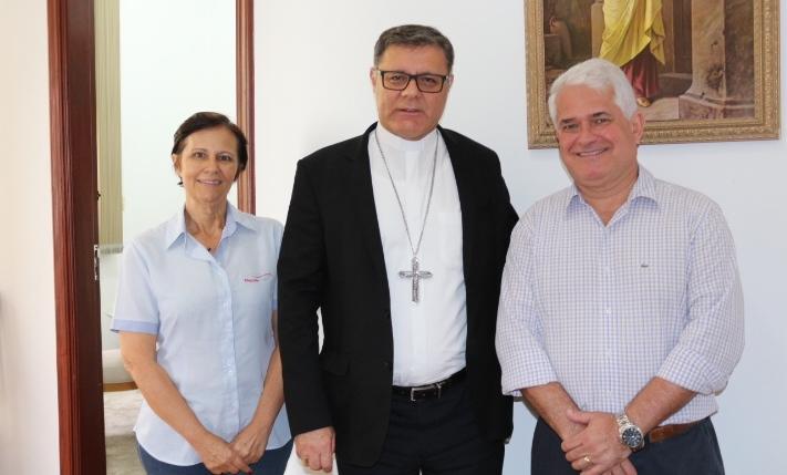 Bispo Diocesano recebe visita do Vereador Marquinho Amaral