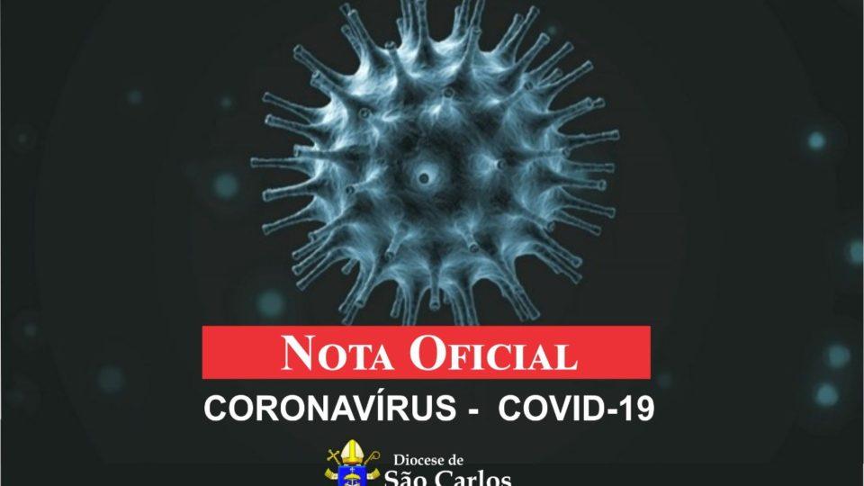 NOTA OFICIAL DA DIOCESE SOBRE CORONAVÍRUS