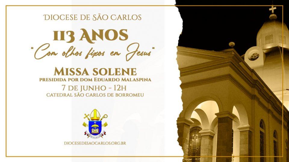 Celebração dos 113 anos da Diocese acontece segunda-feira