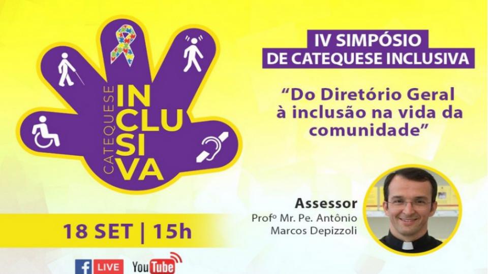 """""""Do Diretório Geral à inclusão na vida da comunidade"""" é o tema do IV Simpósio Regional de Catequese Inclusiva"""