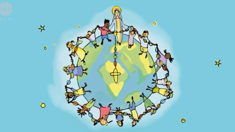 Terço com as crianças pela paz: em 2021, oração em torno de São José