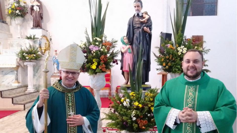Bispo preside tríduo em honra à São Vicente de Paulo