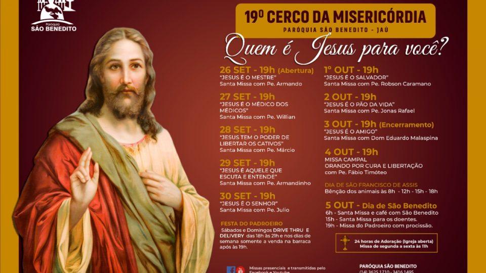 Cerco Da Misericórdia na Paróquia São Benedito de Jaú